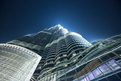 Burj Khalifa building at night Royalty Free Stock Photography