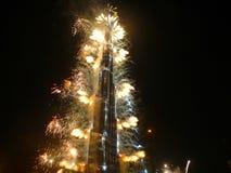 Burj Khalifa (Burj Dubai) Einweihung Stockbild