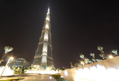 Burj Khalifa (Burj Dubai) skyscraper Stock Photography