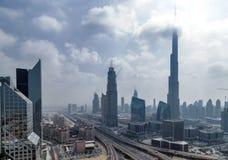 Burj Khalifa Burj Dubai skyskrapa i Dubai, UAE Royaltyfri Fotografi