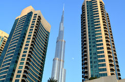 Burj Khalifa Day View with modern building around Stock Images