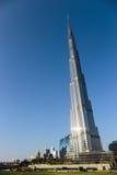 Burj Khalifa - de langste toren van de wereld in Burj Van de binnenstad Doubai Royalty-vrije Stock Fotografie