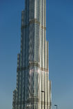 Burj Khalifa (det Khalifa tornet) som är bekant som Burj Dubai Royaltyfria Foton