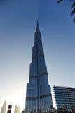 Burj Khalifa (det Khalifa tornet) som är bekant som Burj Dubai Royaltyfri Fotografi