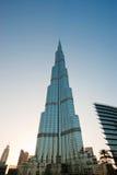 Burj Khalifa (det Khalifa tornet) som är bekant som Burj Dubai före dess invigning, Förenade Arabemiraten Arkivbilder
