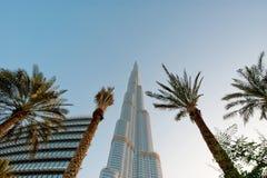 Burj Khalifa (det Khalifa tornet) som är bekant som Burj Dubai före dess invigning, Förenade Arabemiraten Royaltyfri Fotografi
