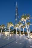 Burj Khalifa di notte Immagine Stock Libera da Diritti