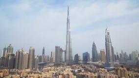 Burj Khalifa and Downtown Dubai at dawn royalty free stock images