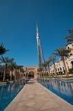 Burj Khalifa in Dubai Stock Photo