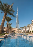 Burj Khalifa in Dubai. A scenic view of the worlds tallest building opened in Dubai in Jan 2010 Royalty Free Stock Photo