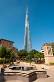 Burj Khalifa in Dubai. A scenic view of the worlds tallest building opened in Dubai in Jan 2010 Stock Image