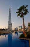 Burj Khalifa in Dubai Stock Photo