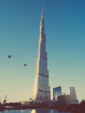 Burj Khalifa in Dubai. Royalty Free Stock Photography