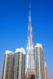 Burj Khalifa Dubai Downtown. DUBAI, UAE - SEPTEMBER 19, 2015: Burj Khalifa, world's tallest tower (829.8 m) in Burj Dubai Downtown on September 19, 2015 in Dubai Stock Photos