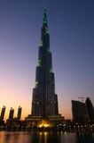 Burj Khalifa Dubai  tallest building in the world Stock Photos
