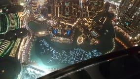 Burj Khalifa. Dubai top night stock photo