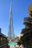 Burj Khalifa in Dubai, UAE stockfotos