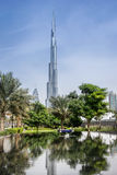 Burj Khalifa. Dubai,UAE on 25th Nov 2016: The Burj Khalifa  is a megatall skyscraper in Dubai. It is the tallest structure in the world, standing at 829.8 m Stock Images
