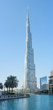 Burj Khalifa in Dubai, UAE, vertical panorama Stock Photos