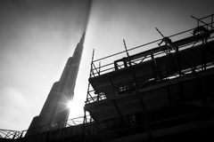 Burj Khalifa in Dubai, United Arab Emirates. Royalty Free Stock Photography