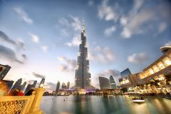 Burj Khalifa in Dubai Stock Images