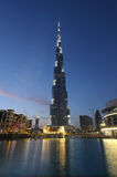 Burj Khalifa at dusk, Dubai Stock Images