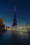 Burj Khalifa at dusk Stock Photos