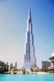 Burj Khalifa e fontana, Doubai Fotografie Stock Libere da Diritti