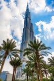 Burj Khalifa facade, UAE. Stock Photos