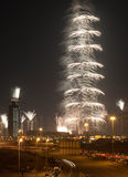 Burj Khalifa Fireworks Stock Photography