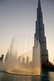 Burj Khalifa and Fountain  Stock Image
