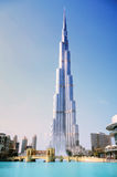 Burj Khalifa and fountain, Dubai Royalty Free Stock Photos