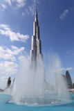 Burj Khalifa and Fountain, Dubai Royalty Free Stock Photo
