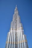 Burj Khalifa från jordningen Royaltyfri Bild