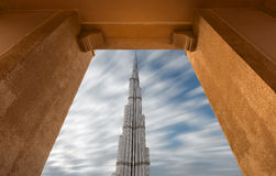 Burj Khalifa the highest building in the world in a natural frame Stock Photos