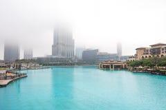 Burj Khalifa jest rzadkimi chmurami Fotografia Stock