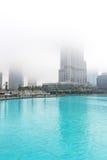Burj Khalifa jest rzadkimi chmurami Fotografia Royalty Free