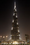 Burj Khalifa la nuit, Dubaï, Emirats Arabes Unis Photos stock