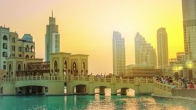 Burj Khalifa Lake Dubai stock video