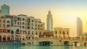 Burj Khalifa Lake Dubai stock video footage