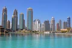 Burj Khalifa lake Royalty Free Stock Image