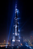 Burj Khalifa Laser Show on Inauguration Stock Photography