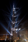 Burj Khalifa Laser Show Inauguration Night Stock Image