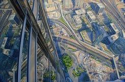 Atop The Burj Khalifa royalty free stock photo