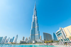 Magnificent Burj Khalifa building in downtown Dubai, UAE