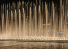 Burj Khalifa musical fountains Stock Images
