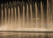 Burj Khalifa musikalspringbrunnar Arkivbilder