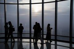 Burj Khalifa na parte superior Imagem de Stock Royalty Free