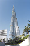 Burj Khalifa from near Dubai mall, Dubai, UAE Royalty Free Stock Photos