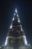 Burj Khalifa at night Royalty Free Stock Photo